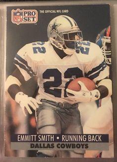 1991 Pro Set Emmitt Smith 485 Dallas Cowboys Near Mint Combined s H   eBay