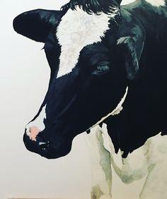 Kuh, Acrylmalerei