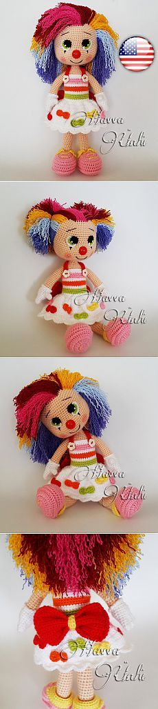 PATTERN Miss Clown от HavvaDesigns на Etsy