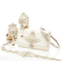 Buy Aurelia Ivory High Heel Wedding Sandal   Emmy London