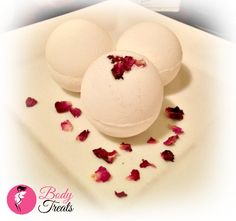 Champagne and Strawberries Bath Bomb Fizzy Rose Pedals Handmade Bath and Body Bath Soak  *SLS & Detergent Free* *Paraben Free* *Preservative Free*  Just drop one of our bath bombs into your tub and it will transform your bath experience.