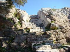 Image detail for -Steps leading up the the Areopagus in Athens. Photo by Leon Mauldin.