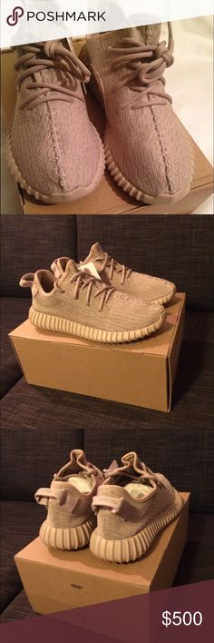 Yeezy 350 Oxford Tans 100% Authentic Adidas Shoes Sneakers