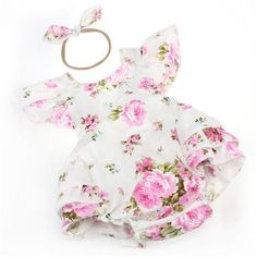 Pink Bouquet Rose Romper. Department Name: BabyItem Type: RompersFit: Fits true to size, take your normal sizeGender: Baby GirlsMaterial: Cotton,Polyester