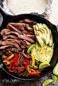 Chili Lime Steak Fajitas are so juicy and full of incredible flavours! The secret lies in our incredibly popular marinade! Juicy Steak Fajitas are a reader favourite, made time and time Crock Pot Recipes, Beef Recipes, Mexican Food Recipes, Cooking Recipes, Detox Recipes, Crock Pots, Easy Recipes, Ninja Recipes, Cooking Rice