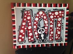 Alpha Omicron Pi hand painted canvas