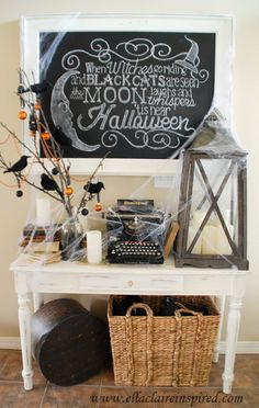 love the table with the antiques on it for an everyday entryway table