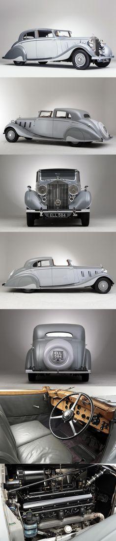 1937 Rolls-Royce Phantom III Gurney Nutting Sports Sedanca de Ville / UK / grey silver