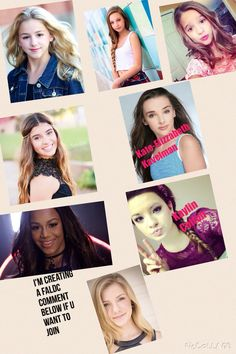 Kendall and Brooke are taken but the rest of them are open comment down below who u want to be