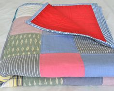 Make a sentimental quilt from the clothing of a loved one, upon his or her death.
