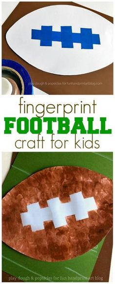 sports crafts for kids vbs \ sports crafts for kids + sports crafts for kids art projects + sports crafts for kids preschool + sports crafts for kids to make + sports crafts for kids toddlers + sports crafts for kids vbs Vbs Crafts, Daycare Crafts, Toddler Crafts, Preschool Activities, Camping Crafts, Football Crafts, Football Themes, Kids Football, Sport Football