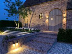 Modern Barn House, Belgian Style, Outside Living, Exterior Lighting, Outdoor Gardens, My House, Deco, House Design, Patio
