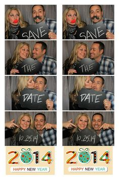 """Looking for a unique """"Save the Date"""" idea? Why not a photo strip? Here, you can see two printed side by side. The finished strip comes out at a size. Contact us for more information at Unique Save The Dates, Wedding Trends, Corporate Events, Coming Out, Photo Booth, Happy New Year, Dating, Printed, Day"""
