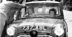 737 ABL .. 1962 Tulip rally , Pat Moss / Ann Riley , ** The 1st international win for a Mini Cooper **