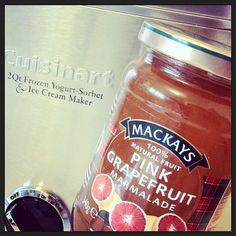 Making Ice Cream with Pink Grapefruit Marmalade