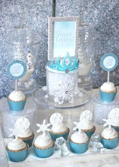 frozen disney party ideas | Sugar is my go-to decor element whenever I'm trying to simulate the ...
