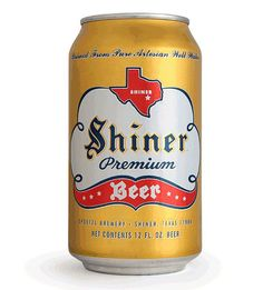 Shiner Premium Beer Can designed by McGarrah Jessee.