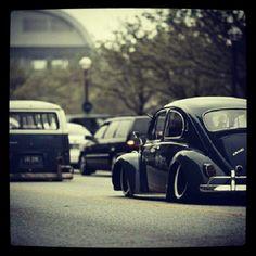 Vintage VW beetle lowrider