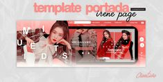 template portada irene page by CromwellXoxoLu on DeviantArt Irene, Layout Template, Templates, Graduation Album, Collages, Twitter Design, Aesthetic Template, Vlog, Coloring Tutorial