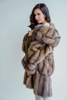 Any breach of copyright was unintentional and copyrighted photos will be removed upon request. Lady Like, Sable Fur Coat, Mink Fur, Boho Chic, Fur Coat Fashion, Stunning Brunette, Fur Cape, Fur Clothing, Fox Fur