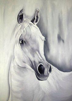 Oil portraits of Horses Heads / Retratos al Oleo de Cabezas de Caballos | Redouane Lahloul