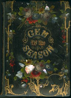 The Gem of the Season | inlaid mother-of-pearl book cover | 1850