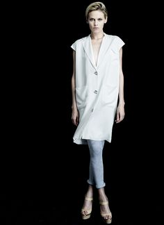 MARQUIS VEST DRESS in silk lined linen (White, Black).   Show off your design sensibility in this piece.   Wear as a jacket or as a dress, the elegance and subtle details make a strong statement.  Silk lined LInen Versatile Elegant Vestdress Made in NYC  http://www.hengstnyc.com/collections/hengst/products/marquis-vestdress