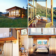 18 Breathtaking Cabins to Fuel Your Cabin Fever via Brit Co Tiny House Talk, Tiny House Company, Cottages And Bungalows, Cabins And Cottages, Diy Cabin, Cabin Ideas, Wooden Shack, Tumbleweed Tiny Homes, Arched Cabin