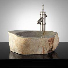 Screven Natural Stone Vessel Sink