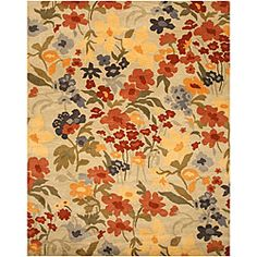 Josie Floral Ivory Rug (8' x 10') | Overstock.com