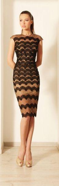 Rami Kadi ~ black dress