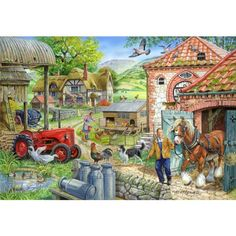 Manor Farm Jigsaw Puzzle from Jigsaw Puzzles Direct - Order today and Get Free Delivery