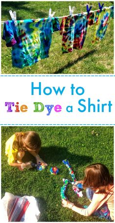 How to Tie Dye a Shirt -- classic Summer fun!!