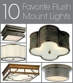 Flush Mount Ceiling Lights: Weeding Through the Ugly To Find My Faves - Driven by Decor