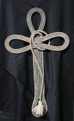 Rope Crosses, lariat crosses, religious cross, western style cross by Jus Ropen Kreations