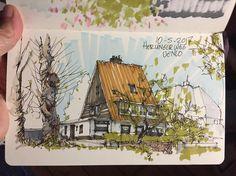 """29 Beğenme, 1 Yorum - Instagram'da Albert Kiefer (@albertkiefer): """"Herungerweg, Venlo #sketchaday #fineliner #markers #urbansketchers #archisketcher"""""""
