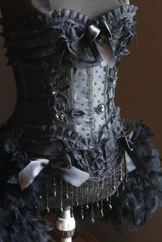 Goth Shopaholic: Gorgeous Burlesque Costume Corsets from Olga on Etsy