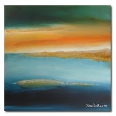 Ailleurs 3  Peinture abstraite contemporaine 80x80 cm par YouliaB