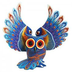 Luis Sosa: Abanico Owl Mexican Folk Art, Mexican Style, Sugar Scull, Owl Designs, Smart Art, Chicano Art, Owl Art, People Art, Wood Carvings