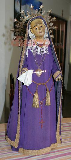 DOLOROSA que le fue obsequiada  a la Vble. María Antonia de Paz y Figueroa en Santiago del Estero, y que hoy veneran sus descendientes.