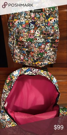 "Tokidoki BackpackSATURDAY SALE Tokidoki Backpack 15"". Outside pocket. So cute ! Purchased for my daughter but she is looking for a smaller version.  tokidoki Bags Backpacks"