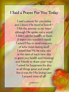 Prayer for U