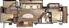 Open Range Roamer 310BHS - 4 Slide Bunkhouse Travel Trailers Floorplan