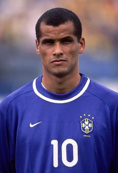 28 Mar 2001 Portrait of Rivaldo of Brazil prior to the FIFA 2002 World Cup Qualifier against Ecuador played at the Estadio Olimpico in Quito, Ecuador. Ecuador won the match 1 - 0.