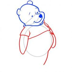 how to draw pooh, winnie the pooh step 5