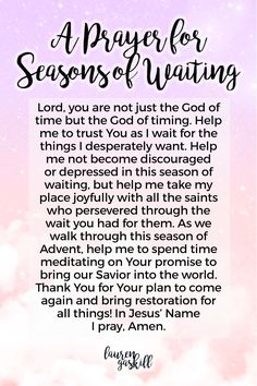 A Prayer for Seasons of Waiting