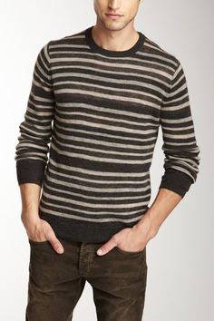Vince Striped Crew Neck Sweater. You can never go wrong with a nice striped sweater.