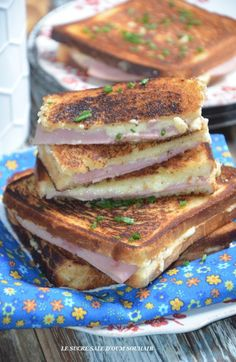 Couscous Salat, Monte Cristo Sandwich, Sandwich Toaster, Chefs, Toast Hawaii, Crockpot Recipes, Cooking Recipes, Good Food, Salads