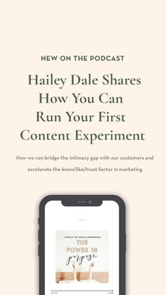Do you feel like your constantly on the content treadmill and every piece of content marketing you put out is a failure? Author and content expert Hailey Dale teaches us how to run our first content experiment–and free ourselves up from failure.