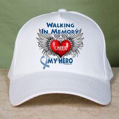 Personalized Walking In Memory Of ALS Hat | MyWalkGear.com